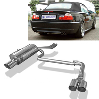 FOX Sportauspuff BMW 3er E46 Limousine Touring Coupe Cabrio 2.0l  2.2l  2.5l  2.8l  3.0l - rechts links 2 x 76mm ohne Absorber