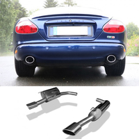 FOX Sportauspuff Jaguar XK8  XKR Coupe u. Cabrio ab Bj. 98 4.2l - rechts links je 1 x 115x85mm Porsche Design (RohrØ 63.5mm)