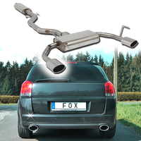 FOX Komplettanlage ab Kat Opel Signum Sportheck 2.8l rechts links je 1x140x90mm oval