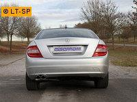 EISENMANN Sportauspuff Mercedes C-Klasse W204 S204 C180 - 2 x 90x70mm RACE Version