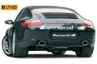 Supersprint Sportauspuff Racinganlage rechts-links 145x95 oval - Porsche 997 Carrera 3.6i ab Bj. 05