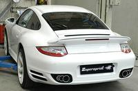 _Supersprint Sportauspuff Racinganlage rechts-links 100-80-70 mm - Porsche 997 Turbo Bj. 06-08