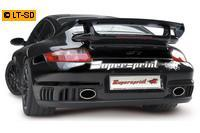 _Supersprint Sportauspuffanlage rechts-links 145x95 oval - Porsche 997 GT2 ab Bj. 08