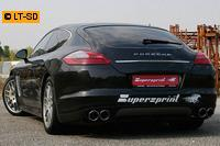 Supersprint Sportauspuffanlage (rechts-links) 2x100 Power Loop inkl. Kat. - Porsche Panamera Turbo u. Turbo S ab 2010