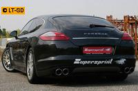 Supersprint Sportauspuffanlage (rechts-links) 2x100 Power Loop inkl. Vorderohr - Porsche Panamera Turbo u. Turbo S ab 2010