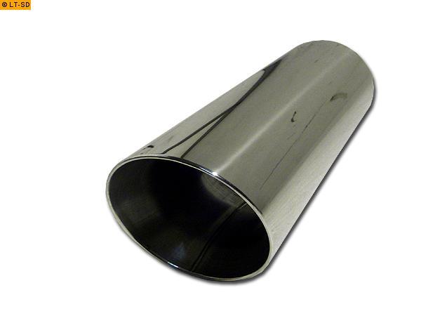 rund 300mm mit Absorber Edelstahl Anschweißendrohr Typ 15 Ø 70mm Länge